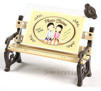 Wholesale Hot Selling Winnie Baby Creative Studio Park Benches Plastic Glass inch Photo Frame Home Decoration