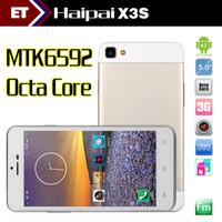 Wholesale MTK6592 Octa Core Haipai X3S Jiake Mobile Phones GHz GB GB inch HD Screen MP GSM WCDMA Smartphone Unlocked OTG Gold Smartphone