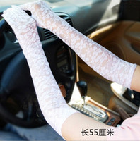 Wholesale women Sexy sun proof Lace Long Gloves Punk Halloween Cosplay Deathrock Vamp pair