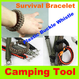 Newest! Hot sell Outdoor gear camping travel hiking rock climbing mountaineering Survival Bracelet with many color Christmas gift L