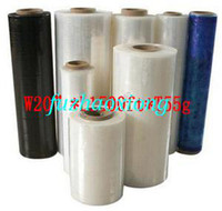 Wholesale Pre stretch wrapping film pallet stretch packing virgin PE LLDPE PVC film transparent or opaque Mutil color plastic logo