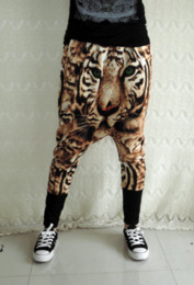 Wholesale Women pants new novel fashion hip hop personality D tiger printing Ladies haroun pants casual pants