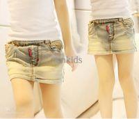 Summer blue jean skirts - Fashion Mini Skirt Girl Clothes Blue Denim Skirts Kids Wear Girls Summer Skirt Children Casual Short Skirts Ripped Jean Skirt ChilPT40410