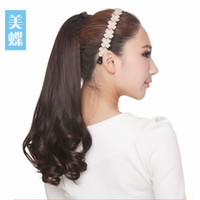 Wholesale Meidie volume ponytail wig pear fluffy long hair bundled volume ponytail high simulation temperature silk matte