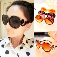 Wholesale 2013 new Designer Round brand women Sunglasses ladies Baroque Swirl Arms sport eyeglasses Vintage Shades Y5000