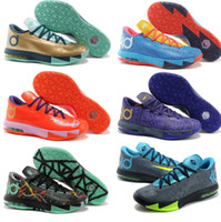 Wholesale New Kevin Durant VI KD Mens Basketball Shoes Athletic Kd6 Sneakers Size Many Colors