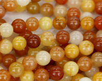 Wholesale Natural Genuine Orange Old Yellow Jade Round Loose Stone Beads mm Fit Jewelry DIY Necklaces or Bracelets quot