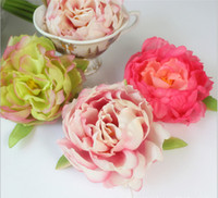 Wholesale Colors cm DIY Artificial Flower head Peony Head Hair Clip Ornaments