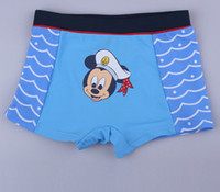 Boy Swim Trunks 2-3-4-5-6-7T Children Boys Mouse Cartoon Chevron Swimming Trunks Kids Boy Miki Mouses Flat Foot Shorts Beach Trunks Childs Bule Wave Bathing Pants H0095