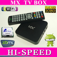 Wholesale 5pcs Android MX TV Box Thin Client Amlogic Dual core GHz GB RAM GB Cortex A9 ghz Support XBMC Youtube in Store