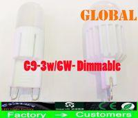 LED ac ceramic lights - New Arrival G9 LED light bulbs Dimmable W W LM ceramic Led Candle bulbs LED lamp indoor lighting LED Bulb AC V V