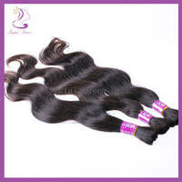 Wholesale A Grade Very Thick Double Drawn Peruvian Remy Human Hair Bulk inch Braiding Extensions g b Black