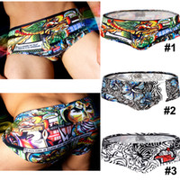 AUSS Men's Comic Heroes Swimwear Cool Bathing suit Trunks Sw...