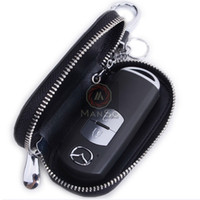 Wholesale High Quality Genuine Leather Remote Control Car Keychain Key Cover Case Auto Accessories for Mazda CX CX