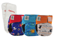 Wholesale Coolababy Bamboo Charcoal Baby Waterproof Cloth Diaper Adjustable Nappies with inner gusset inserts