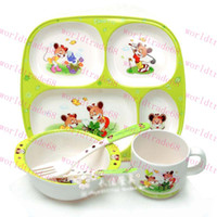Wholesale Brand New Custom made piece baby children product baby feeding solid feeding dishes cup spoon fork bowl