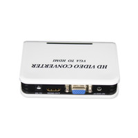 Wholesale VGA to HDMI Converter Box P HD Video Converter Adapter for HDTV PC Computer Notebook Best price