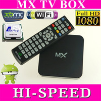Wholesale 20PCS XBMC preinstalled Android TV set top box Google Amlogic MX Cortex A9 Dual core GHz GB GB M6 EM6 Media Player