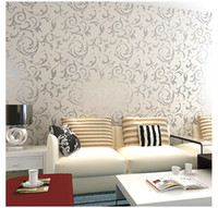Wholesale European Style PVC wall paper rolls wallpaper suitable for bedroom living room