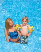 Floatation Devices PVC cartoon baby swim arm ring Boys Pool school brand arm floating ring life buoy baby Swimming arm ring infant toddler kids children floating ring
