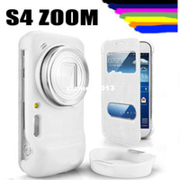 Wholesale For Samsung GALAXY S4 Zoom Original S View Open Window Case Flip Leather Back Cover Cases Battery Housing Case
