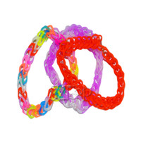 3 & 4 Years Multicolor Plastic Rainbow Loom Bracelet Colorful Rubber Band Silicone LOOM BANDS the Preparation Ring - 600 Bands+ S-Clips Twistz DIY With Box Set(1501002)