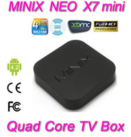 Quad Core Included 1080P (Full-HD) MINIX NEO X7 mini Android TV Box Quad Core Mini PC RK3188 1.6GHz 2G 8G WiFi HDMI USB RJ45 SD Card Optical XBMC Smart TV Receiver
