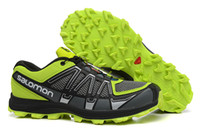Wholesale Salomon Fell Raiser Shoes Mens Sneakers Flexible Running Shoes Skidproof Hiking Shoes Green Black Jogging Shoes Excellent Sports Shoes