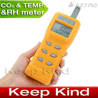 Wholesale AZ7752 dioxide Gas Detector Handheld CO2 detector carbon dioxide detector with temperature