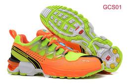 Wholesale SALOMON GCS Athletic Trail Running Shoes Orange Outdoor Shoes Comp Ground Control System Salomon Shoes Cheap Classic Sneaker Mens Shoes