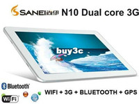 Wholesale DHL Sanei N10 G Version WCDMA Phone Call IPS Bluetooth GPS Dual core dual camera Android Tablet pc