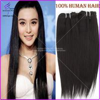 Wholesale Brazilian Virgin Hair Extensions Brazilian Virgin Hair Straight Natural Black B Unprocessed Virgin Brazilian Hair Weave Bundles