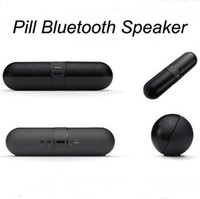 Wholesale 2014 New Brand Outdoor Mini Pill style stereo Wireless Portable Bluetooth Speaker with Mic For ipad iphone Samsung PC PSP MP3