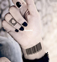 barcode sticker numbers - Barcode Numbers Personality Temporary tattoo Waterproof tattoo stickers body art Painting