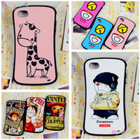 Wholesale Waistline iphone4 phone shell iphone4s phone shell Apple phone shell drop resistance cartoon Korea