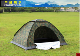 Wholesale Double camouflage tents outdoor tent outdoor camping ultralight hot couple