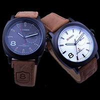 Wholesale CURREN Brand Men Wristwatches Genuine leather Strap Clocks MILITARY STYLE Quartz Watches