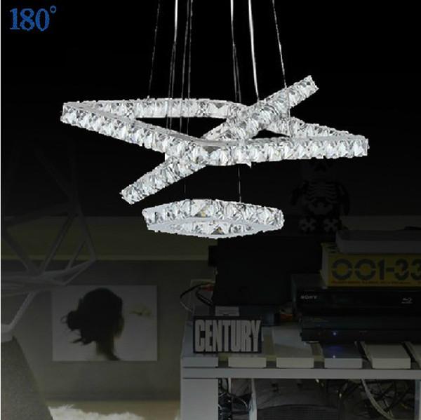 I moderni led lampadario di cristallo lustro decorazione lampada a ...