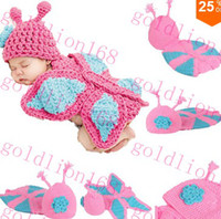 Boy Summer Newborn Hat 2014 Brand New Promotion Fashion Cute Baby Toddler Costume Photo Prop Knit Crochet Butterfly Suit Hat Cap