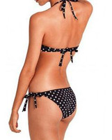 Women Bikinis Dot Polka Dot Bikini swimsuits sexy hot beauties two type printed fabrics,Printed Swimwear