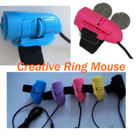 As the Description Wired Mini Colorful Mini USB Cable Creative Lazy Mouse Finger Mouse Mouse Ring Random Colors