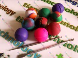 Rasta Green Multi Color EGO Non-Stick Silicone Ball Jar Slick Non-Stick Stainless Steel Wax Oil Dabber Tool E CIG