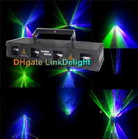 Wholesale DHL mw Professional DJ Laser Light Heads Lens colors RGBY Stage Lighting Show Beam sound active DMX Manual