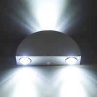 Wholesale 2016 new hot Design Wandleuchte LED Wandlampe Wand Lampe Flurlampe Licht Kaltweiss Halbkreis