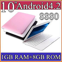 Wholesale 10 quot VIA WM8880 Laptop Android Netbook Notebook GB GB Webcam flash Facebook Youtub