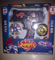 Wholesale 1 piece hot new Beyblade Top Set Metal Fusion Sol Blaze Double Launcher