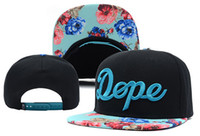 Wholesale 2014 new floral dope adjustable baseball snapback hats and caps for men women sports hip hop mens womens street headwear sun cap blue red