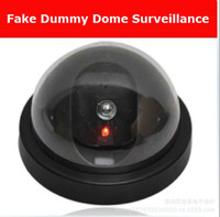 Wholesale Fake Dummy Dome Surveillance CAM Dummy Indoor Security CCTV Camera flashing for Home Camera LED The simulation monitor surveillance c068