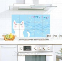 Graphic vinyl PVC Animal Free Shipping Quality aluminum foil oil pollution smoke tile kitchen cabinet decoration stickers