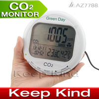 Wholesale AZ7788 CO2 Monitor Desktop carbon dioxide detector meter CO2 Gas Detector with temperature humidity